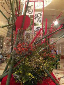 新年の飾り(京王プラザホテルのロビー)